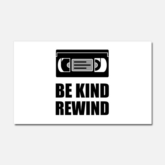 VHS Cassette Tape Be Kind Rewind Car Magnet 20 x 1