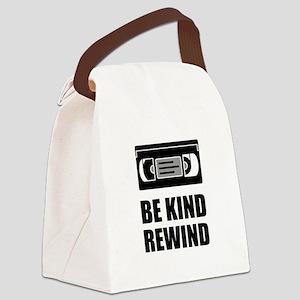 VHS Cassette Tape Be Kind Rewind Canvas Lunch Bag