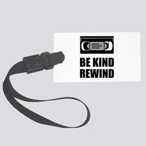 VHS Cassette Tape Be Kind Rewind Luggage Tag