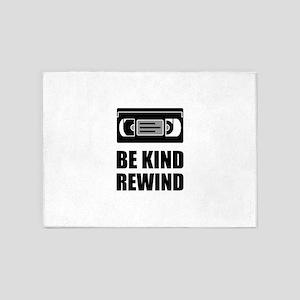 VHS Cassette Tape Be Kind Rewind 5'x7'Area Rug
