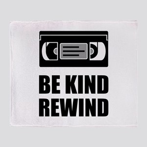 VHS Cassette Tape Be Kind Rewind Throw Blanket
