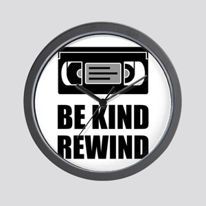 VHS Cassette Tape Be Kind Rewind Wall Clock