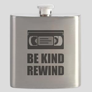 VHS Cassette Tape Be Kind Rewind Flask