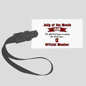 Jelly of the Month Christmas Large Luggage Tag