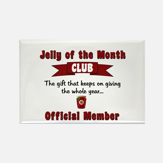 Jelly of the Month Christmas Rectangle Magnet