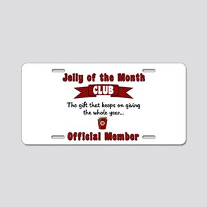 Jelly of the Month Christma Aluminum License Plate