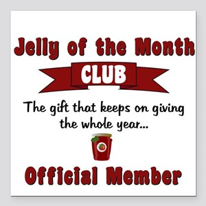 "Jelly of the Month Chris Square Car Magnet 3"" x 3"""