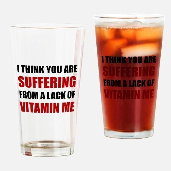Vitamin Me Drinking Glass