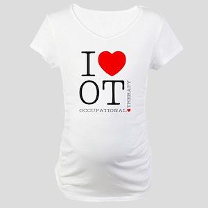 OT-iloveOT2 Maternity T-Shirt