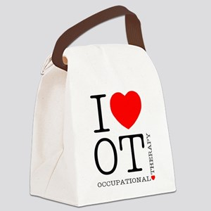 OT-iloveOT2 Canvas Lunch Bag