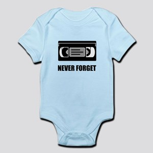 VHS Cassette Tape Never Forget Body Suit