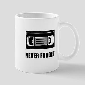 VHS Cassette Tape Never Forget Mugs