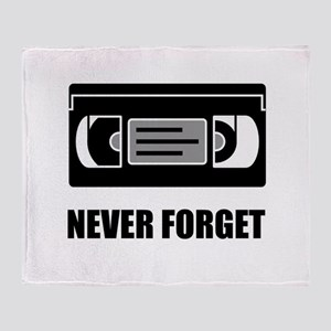 VHS Cassette Tape Never Forget Throw Blanket