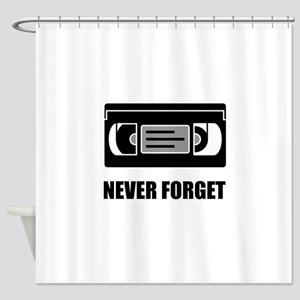 VHS Cassette Tape Never Forget Shower Curtain