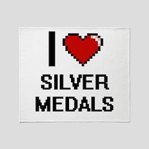 I Love Silver Medals Digital Design Throw Blanket