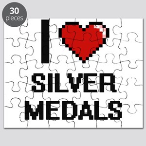 I Love Silver Medals Digital Design Puzzle