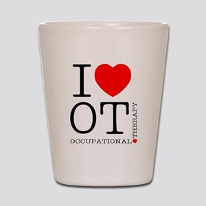 OT-iloveOT2 Shot Glass