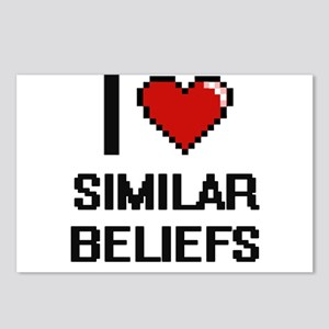 I Love Similar Beliefs Di Postcards (Package of 8)