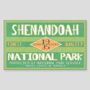 Shenandoah National Park (Retro) Sticker (Rectangu