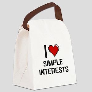 I Love Simple Interests Digital D Canvas Lunch Bag