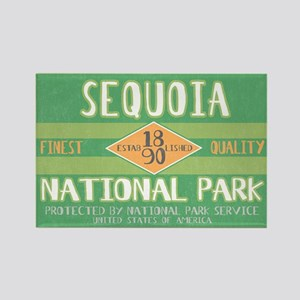 Sequoia National Park (Retro) Rectangle Magnet