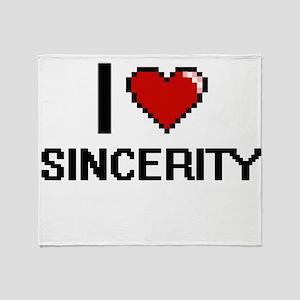I Love Sincerity Digital Design Throw Blanket