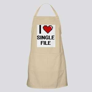 I Love Single File Digital Design Apron