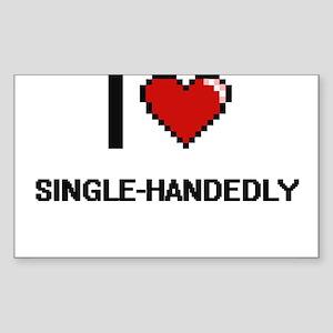 I Love Single-Handedly Digital Design Sticker