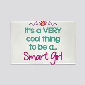 Smart Girl... Rectangle Magnet (10 pack)