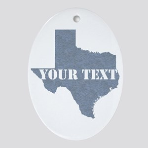 Personalize it Oval Ornament