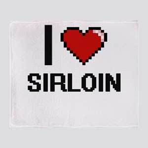 I Love Sirloin Digital Design Throw Blanket