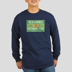 Redwoods National Park (Retro) Long Sleeve Dark T-