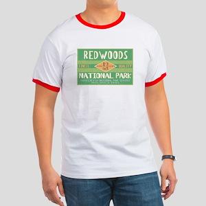 Redwoods National Park (Retro) Ringer T