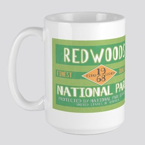 Redwoods National Park (Retro) Large Mug