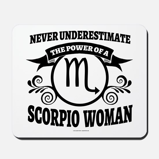 Scorpio Woman Mousepad
