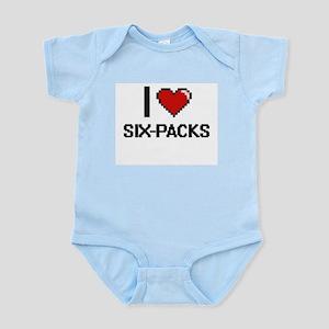 I Love Six-Packs Digital Design Body Suit