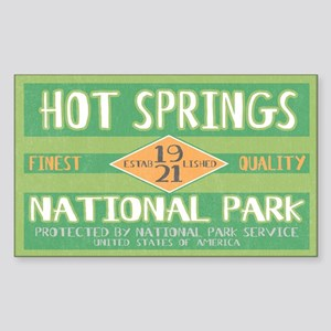 Hot Springs National Park (Retro) Sticker (Rectang