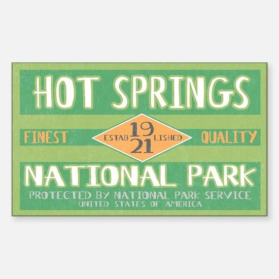 Hot Springs National Park (Retro) Decal