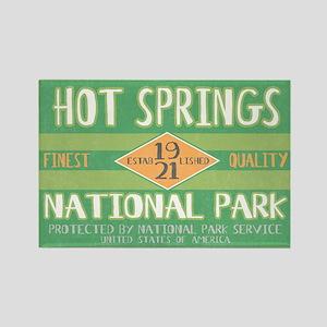 Hot Springs National Park (Retro) Rectangle Magnet