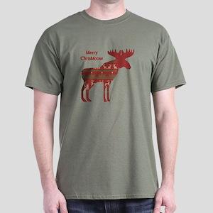 Fun Christmas Moose In Sweater Design T-Shirt