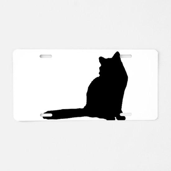 Norwegian forest cat silhouette Aluminum License P