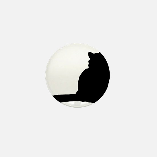Norwegian forest cat silhouette Mini Button