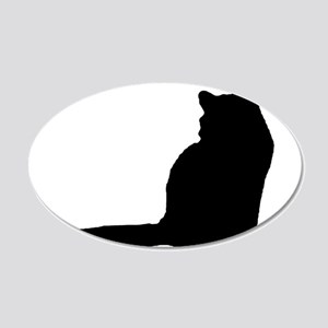 Norwegian forest cat silhouette Wall Decal