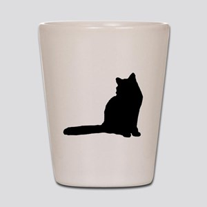 Norwegian forest cat silhouette Shot Glass