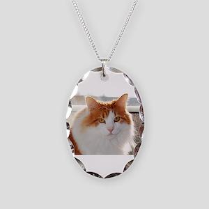 norwegian forest cat orange white Necklace