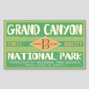 Grand Canyon National Park (Retro) Sticker (Rectan