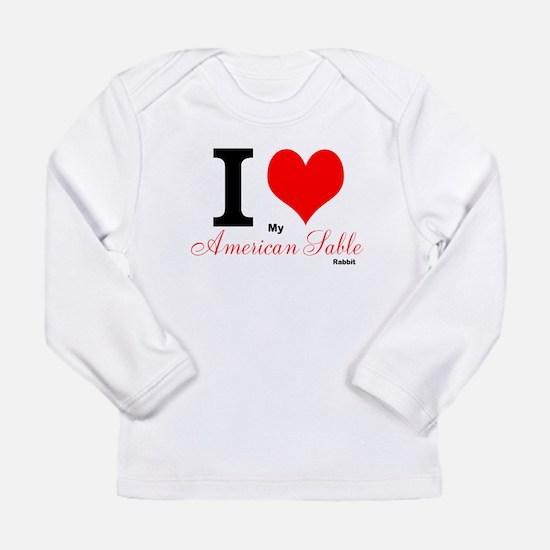 I heart My American Sable Long Sleeve T-Shirt
