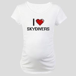 I love Skydivers Digital Design Maternity T-Shirt