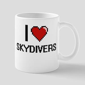 I love Skydivers Digital Design Mugs