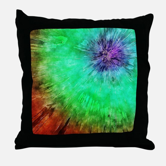 Vintage Abstract Tie Dye Throw Pillow